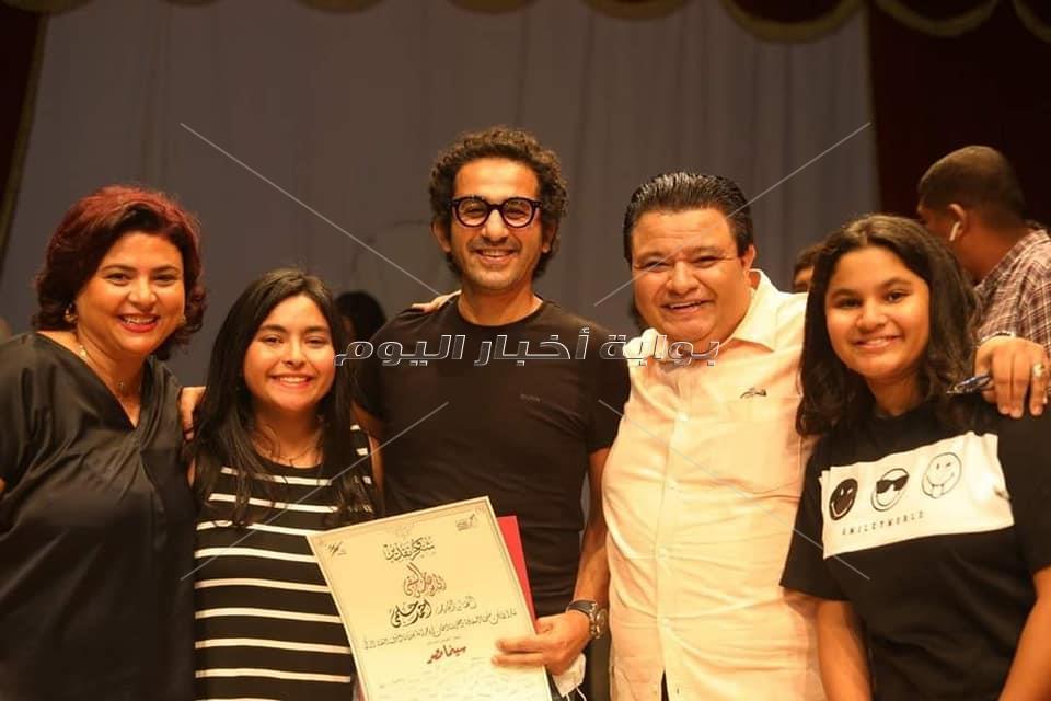 صور  خالد جلال يُكرم أحمد حلمي في «سينما مصر»