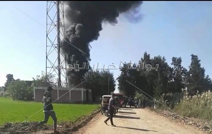 السيطرة على حريق نشب داخل محطة تقوية شبكة محمول بأبو المطامير بالبحيرة