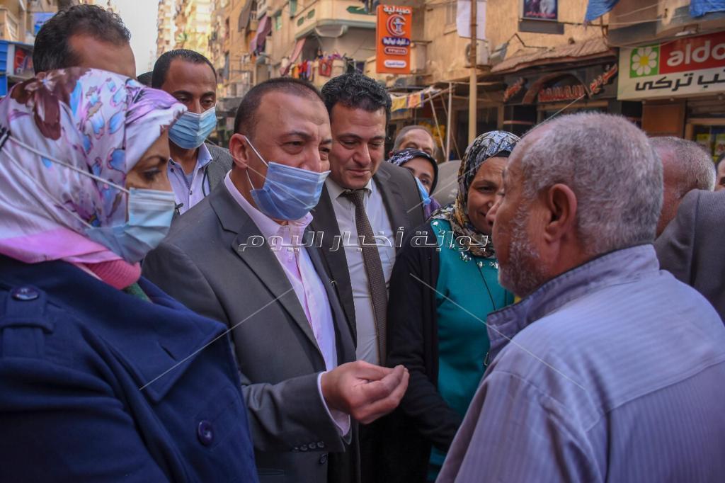 محافظ الإسكندرية يتفقد مشروع شبكة الصرف الصحي بالفلكي بتكلفة 48 مليون