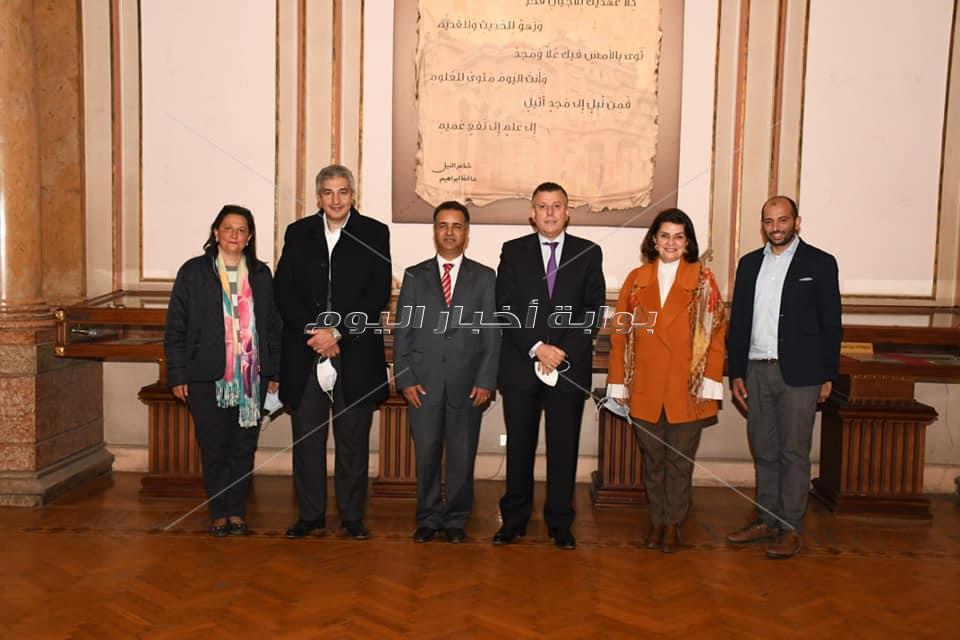 رئيس جامعة عين شمس يستقبل الملحق الثقافي والأكاديمي بسفارة ليبيا لمناقشة أوضاع الطلبة الليبيين