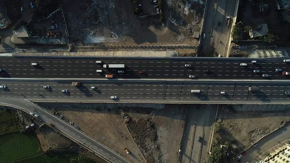 """10 صور ترصد كوبري """"الشموت"""" بطريق الإسكندرية الزراعي عقب انتهاءه"""