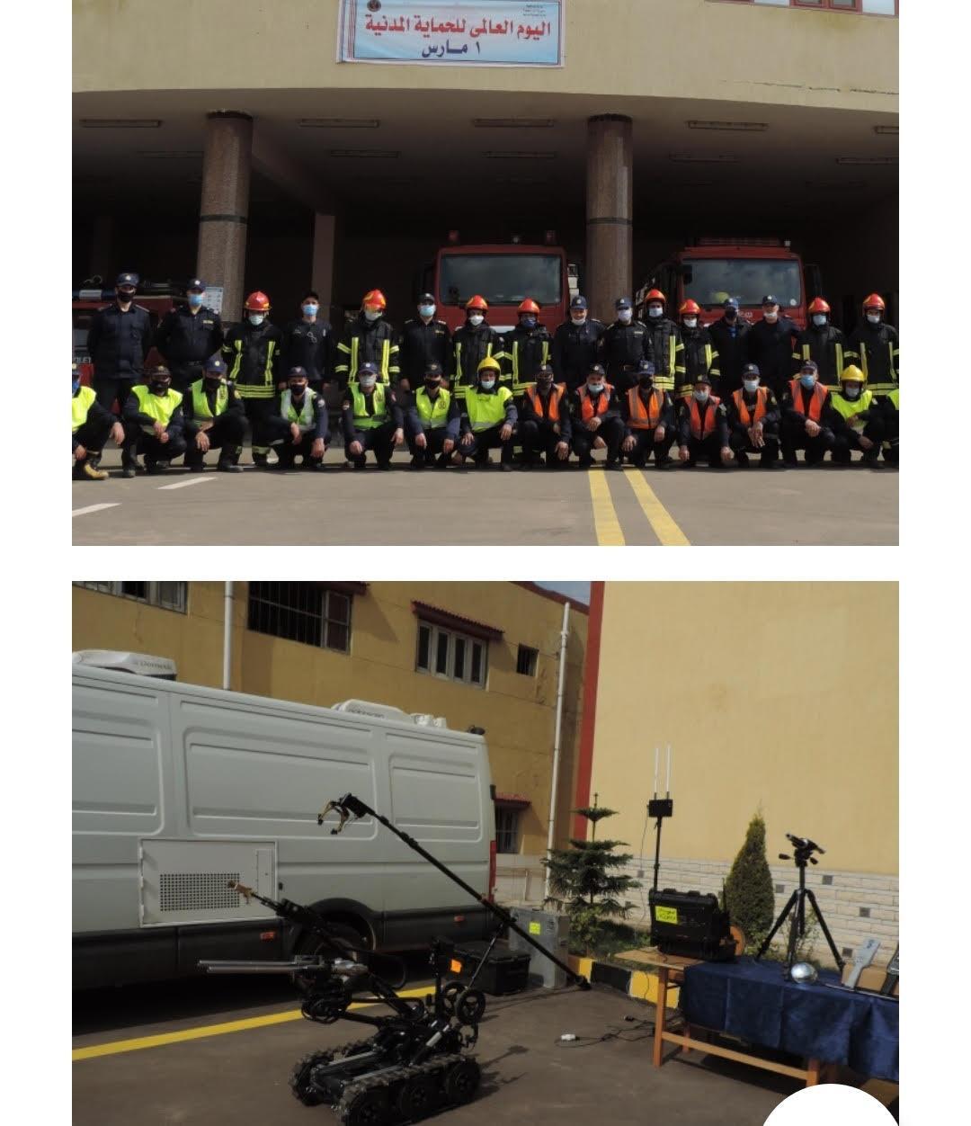 عروض تبرز كفاءة رجال الحماية المدنية في اليوم العالمي