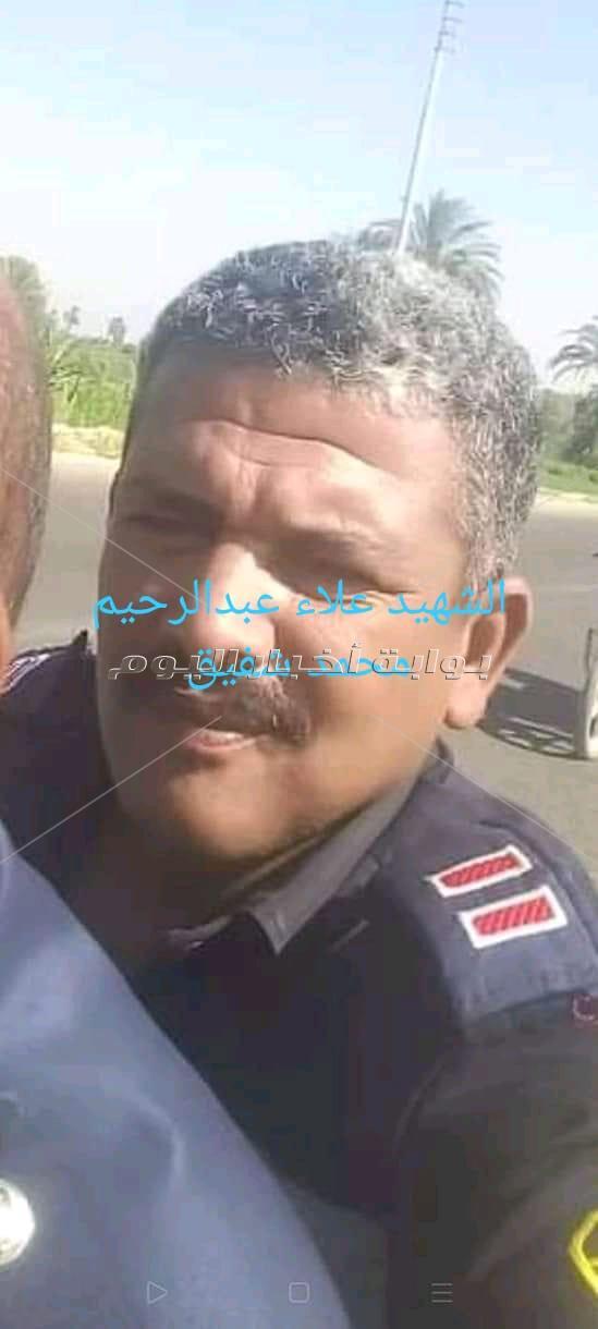 الآلاف في وداع شهيد الواجب أمين شرطة علاء عبدالرحيم