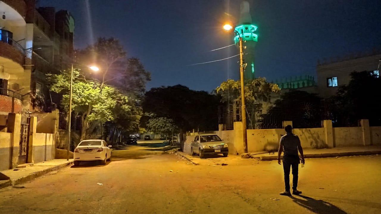 إنارة الشوارع الفرعية بحي ثالث الإسماعيلية