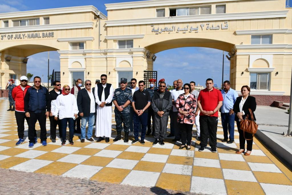وزارة الشباب والرياضة تنظم مهرجان رياضى واحتفالية فنية بقاعدة 3 يوليو البحرية بمطروح