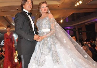 fb76a8b474171 الفنانة بشري ترتدي فستان من تصميم هاني البحيري