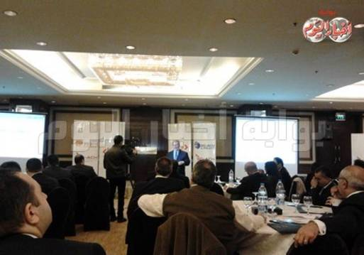 27d945e05 محمد كامل بيومي خلال المؤتمر السنوي الأول للشركة حول غرفة المقاصة الآلية  للمدفوعات