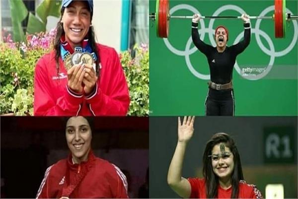 بعثة مصر من الفتيات المشاركات فى دورة ألعاب البحر الأبيض المتوسط
