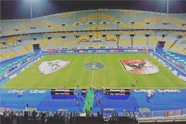القمة 117 شعار فريقي الزمالك والأهلي يزينان ملعب برج العرب بوابة