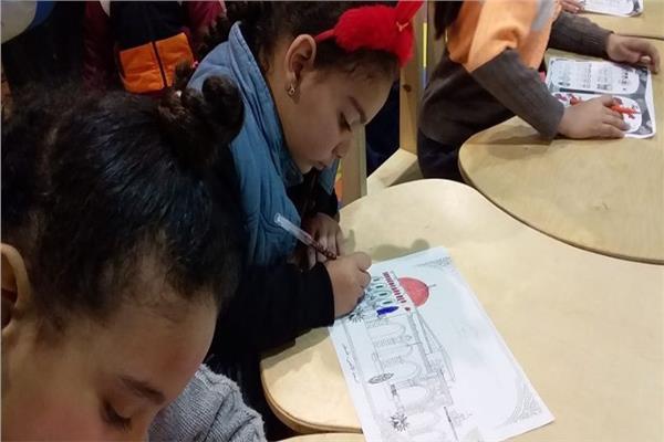 المقدسات الإسلامية بفلسطين في ورشة تلوين للأطفال بمعرض الكتاب