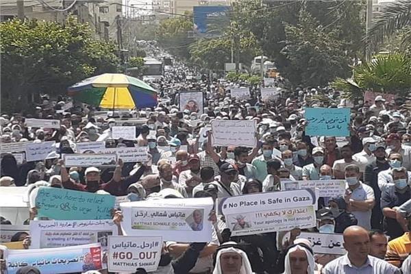 مسيرة احتجاجية حاشدة في غزة ضد مدير وكالة «الأونروا».. صور | بوابة أخبار  اليوم الإلكترونية